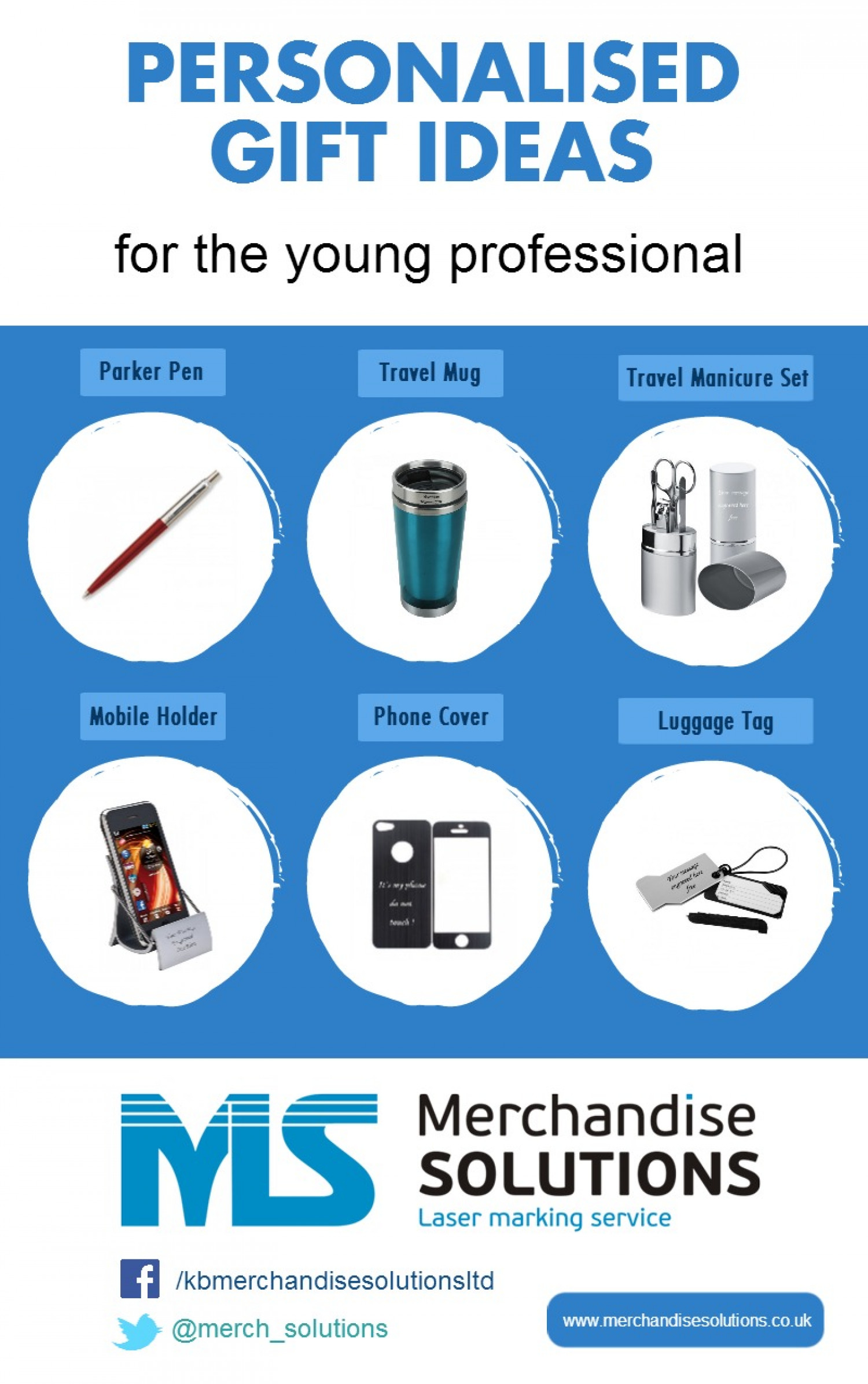 Personalised Gift Ideas For The Young Professional Infographic