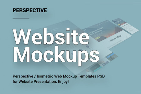 Perspective Website Mockups Infographic