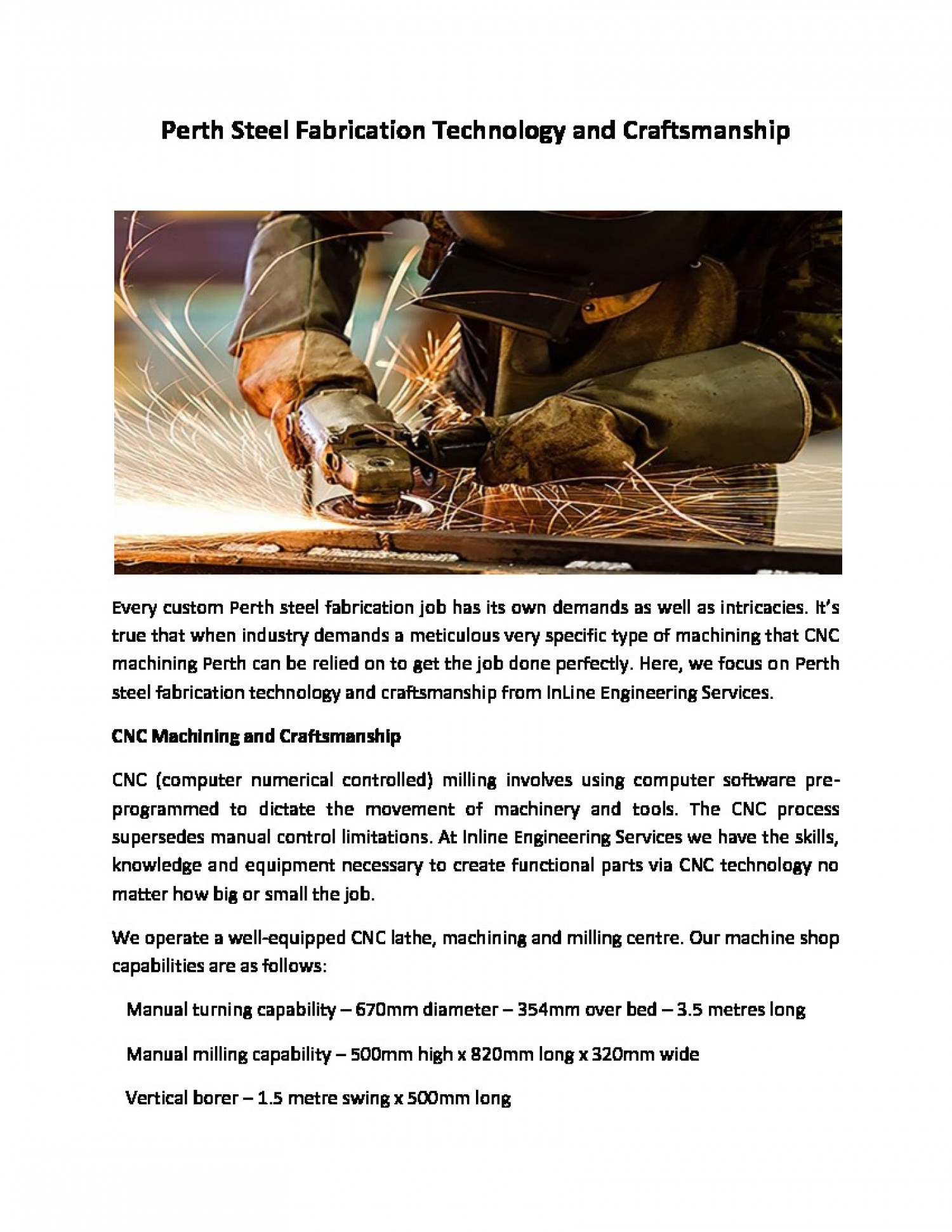 Perth Steel Fabrication Technology and Craftsmanship Infographic