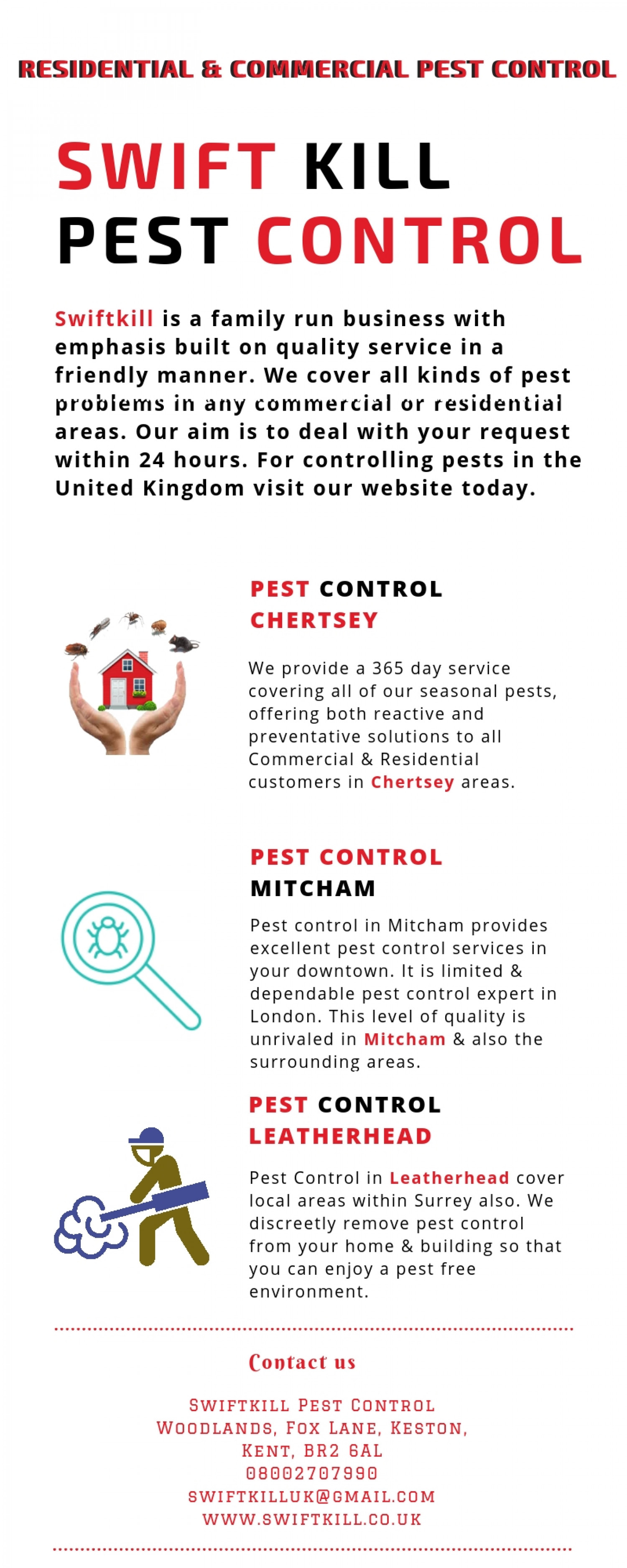 Pest Control in Leatherhead Infographic