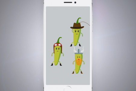 Philadelphia Cream Cheese Jalapeño Snapchat Ad. Infographic