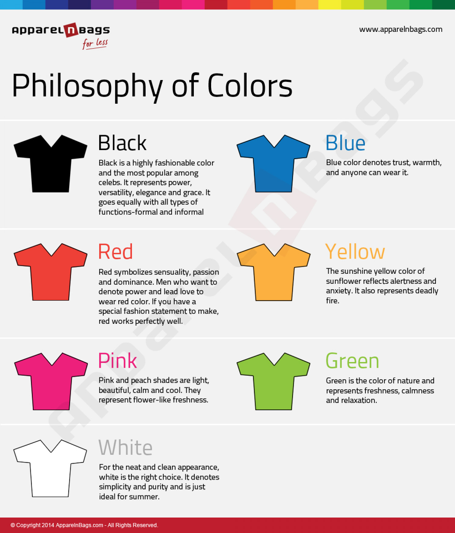 Philosophy of Colors! Infographic