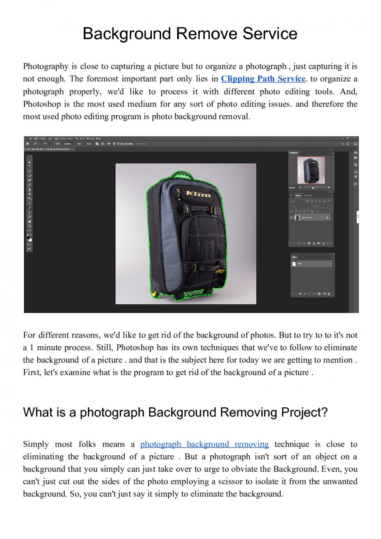 Photoshop Clipping Path  Infographic