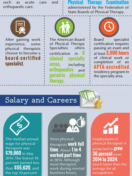 Physical therapy Education and careers. Infographic