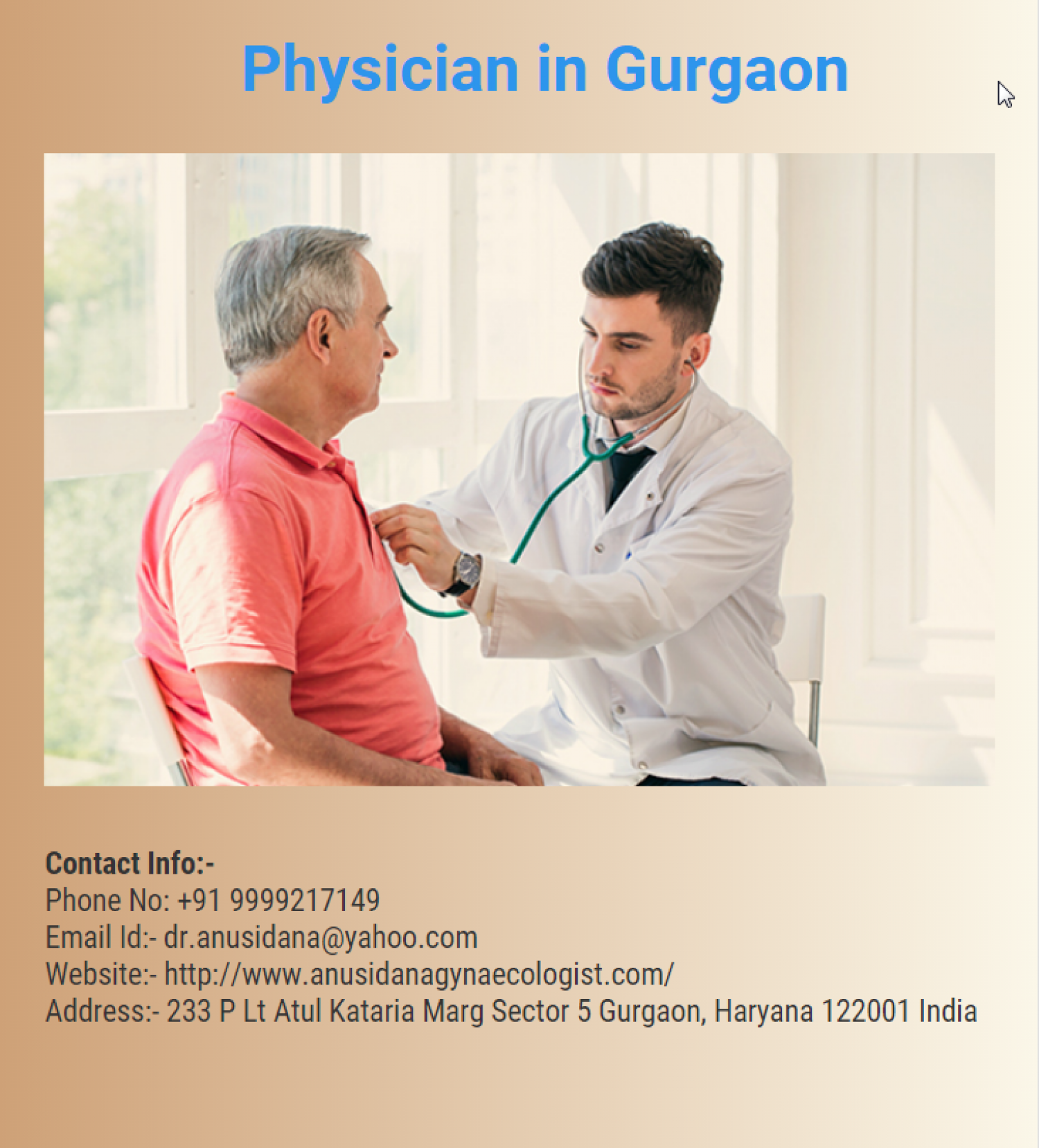 Physician in Gurgaon Infographic