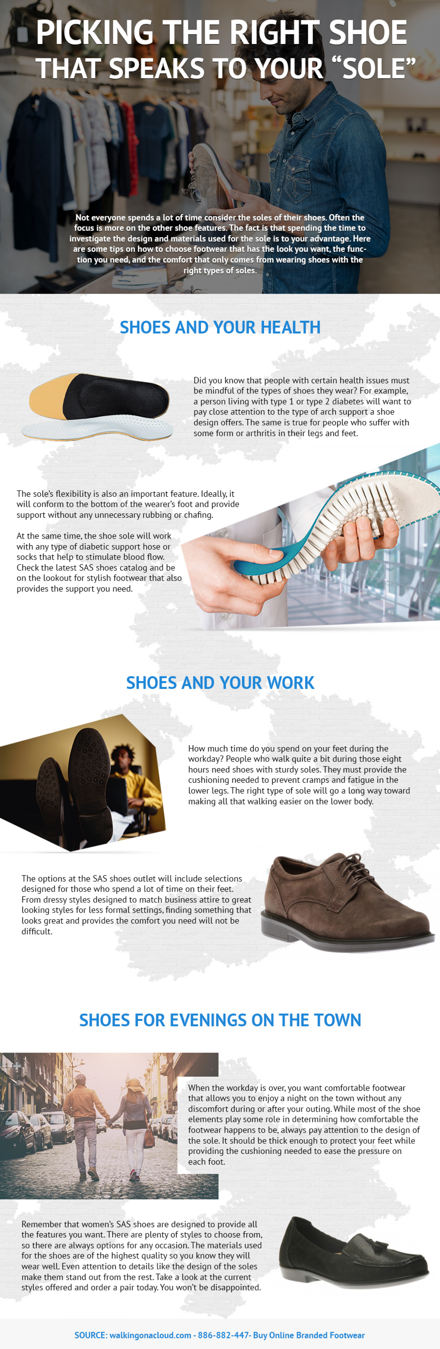 """Picking the Right Shoe That Speaks to Your """"Sole"""" Infographic"""