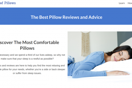 Piles of Pillows Homepage Infographic