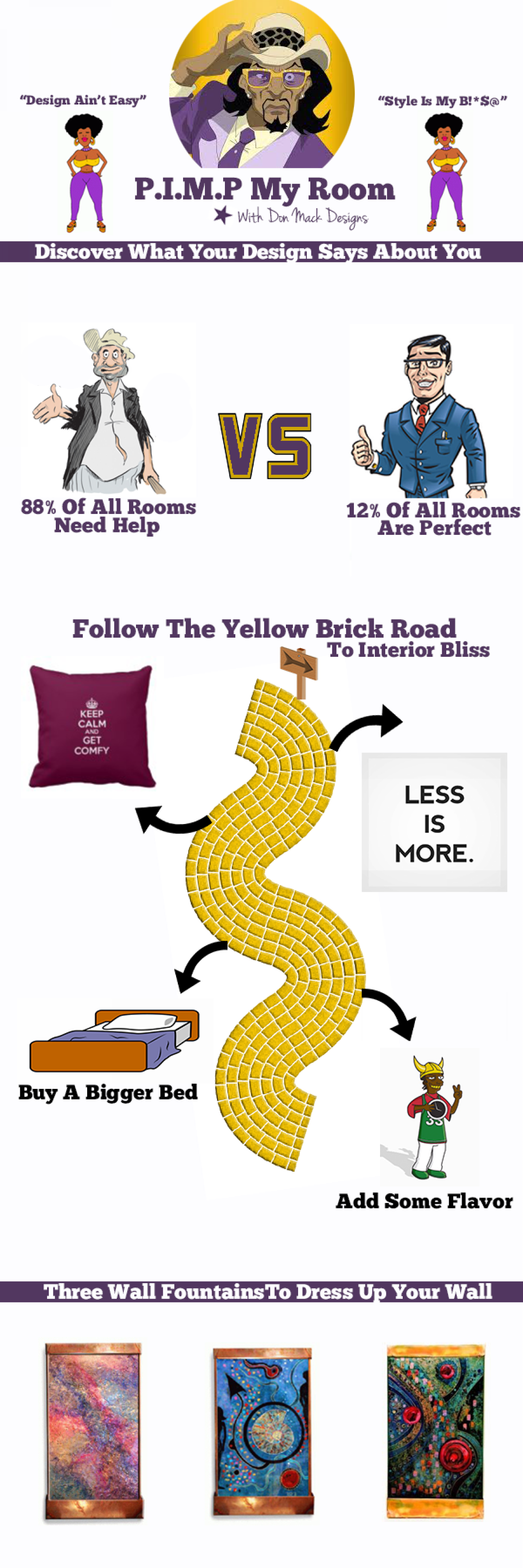 Pimp My Room with Don Mack Designs Infographic