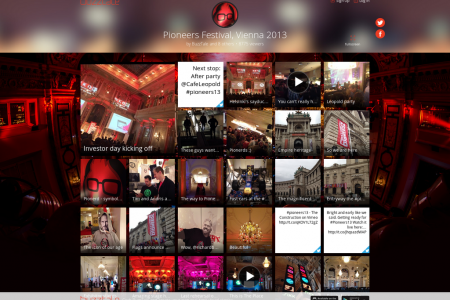 Pioneers Festival 2013 as told by BuzzTale Infographic