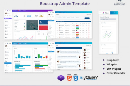 Pixel Bootstrap Admin Template Web Apps & UI Kit Infographic