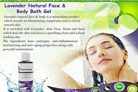 Planet Ayurveda-Lavender Natural Face & Body Bath Gel Infographic