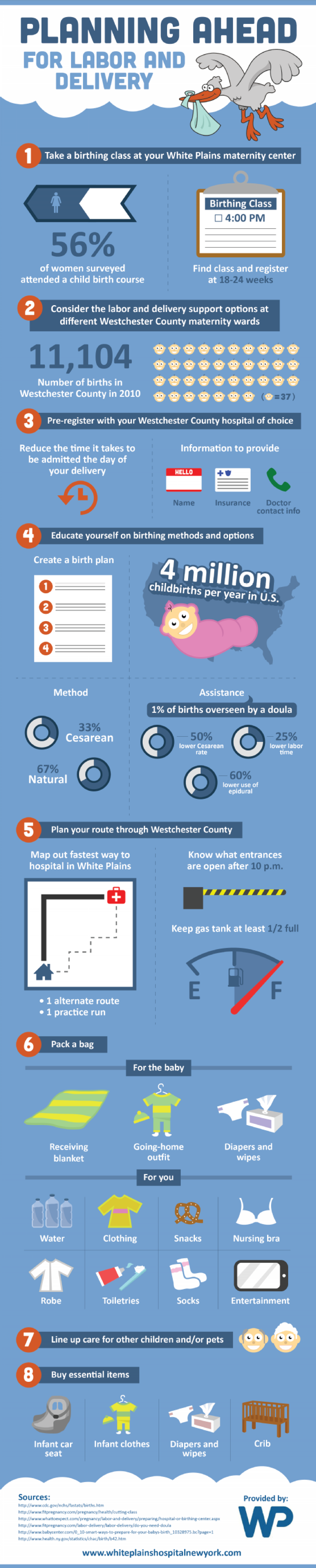 Planning Ahead for Labor and Delivery Infographic