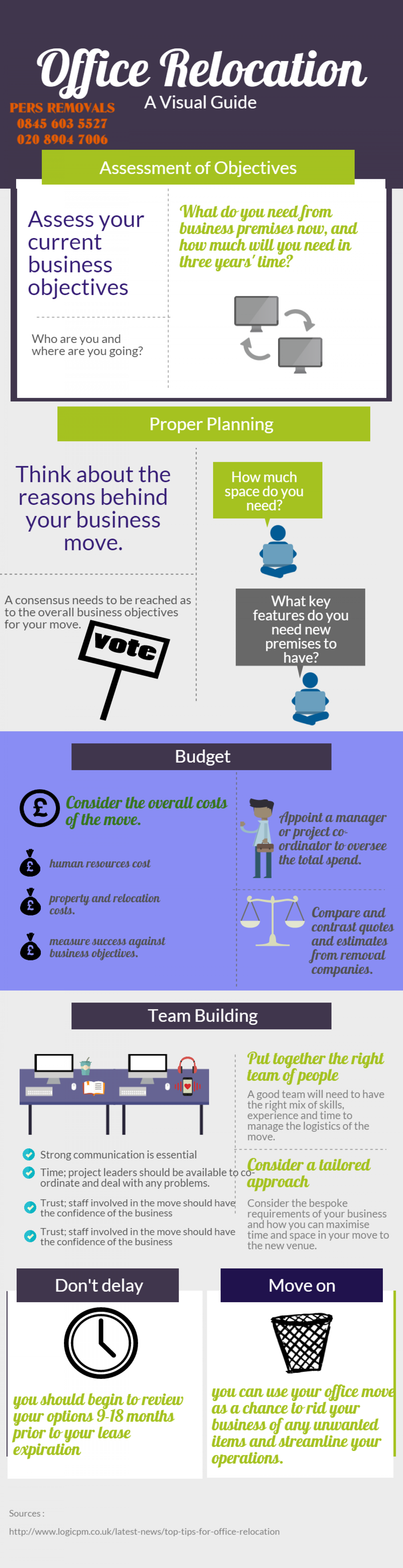 Planning an office move: a visual guide  Infographic