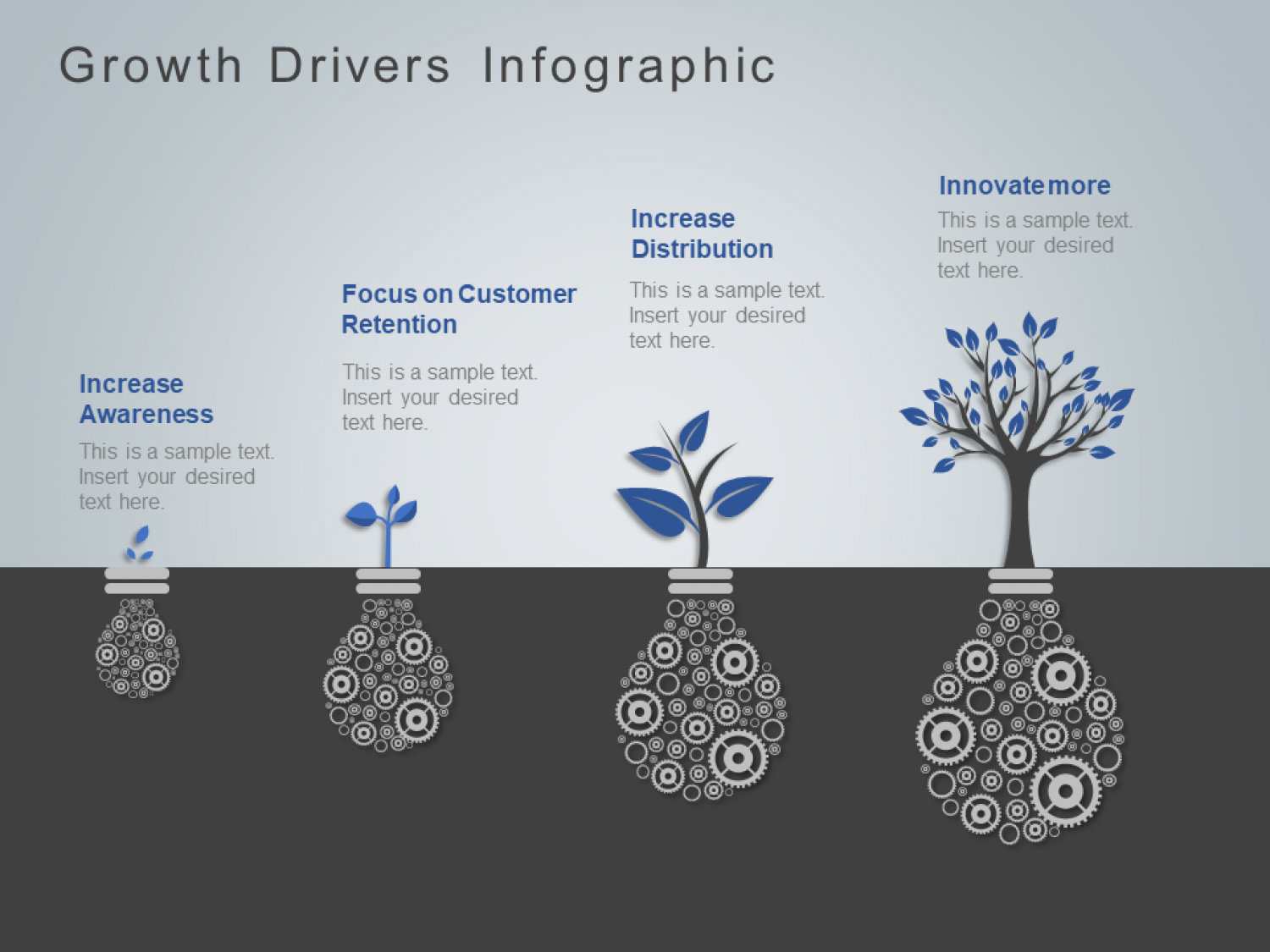 Plant Growth Drivers PowerPoint Template Infographic