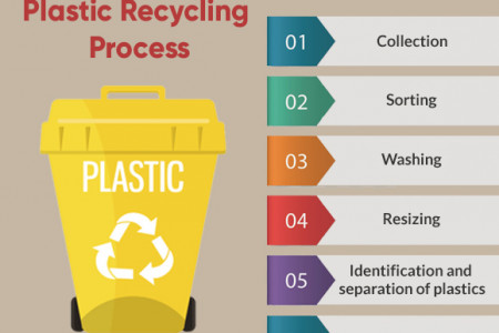 Plastic recycling process Infographic