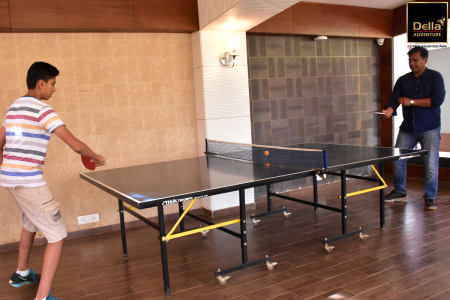 Play Table Tennis Match with your friends and Family at Della Adventure Park Infographic