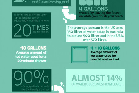 Plumbing Fun Facts Infographic