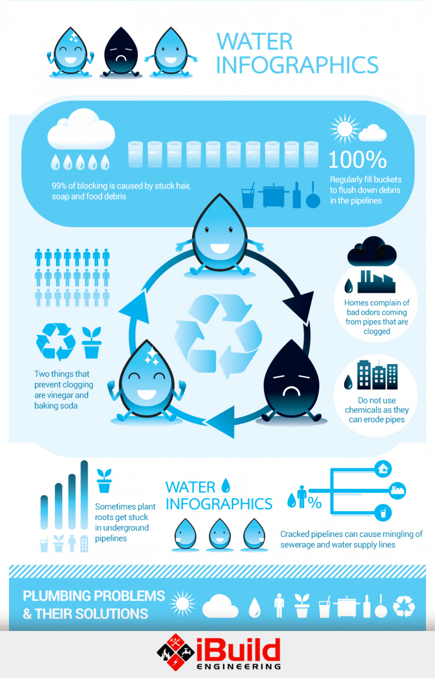 Plumbing Problems and Their Solutions Infographic