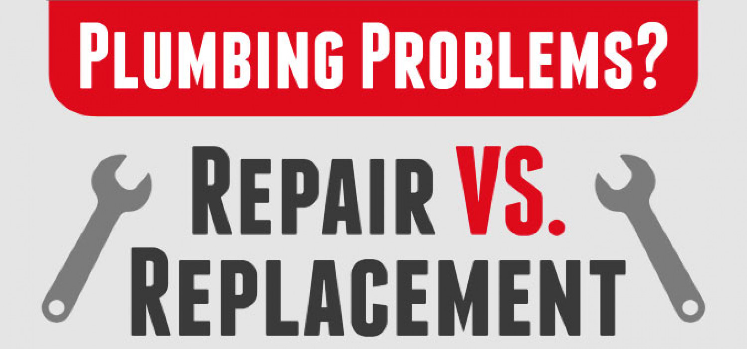 Plumbing Problems? Replacement VS Repair Infographic
