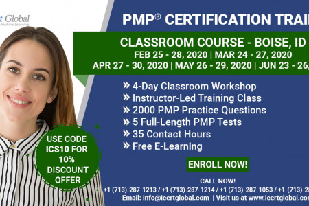 PMP Certification Training Classroom Course in Boise, ID Infographic