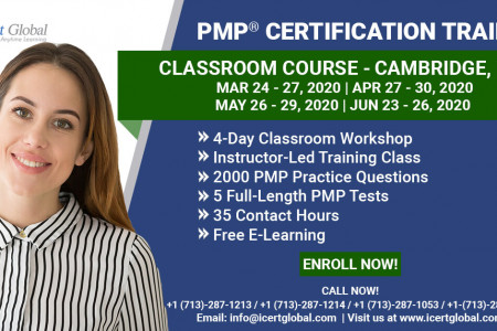 PMP Certification Training Course in Cambridge, MA Mar-Apr 2020 Infographic
