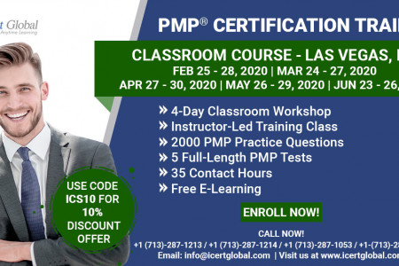 PMP Certification Training Course in Las Vegas, NV | Classroom Training | iCert Global Infographic