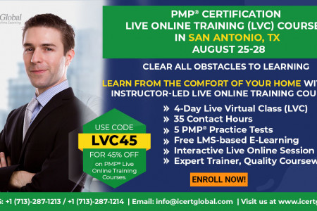 PMP Live Online Certification Training (PMP Live Virtual Class) in San Antonio, TX | iCert Global Infographic
