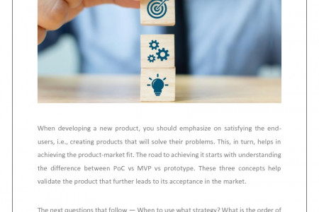 PoC vs MVP vs Prototype: What Strategy Leads to Product-Market Fit? Infographic