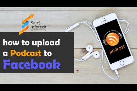 Podcast Upload to Facebook/Upload Audio File to Facebook Infographic