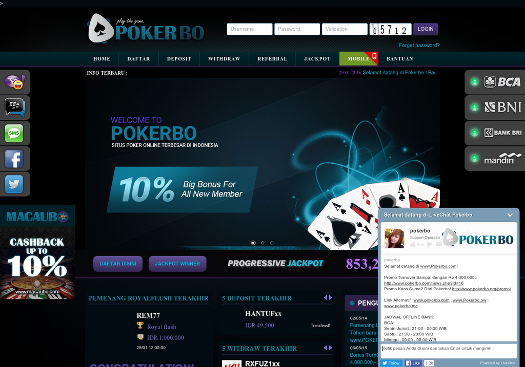 Poker Indonesia Visual Ly