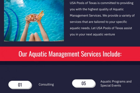 Pool Management | Lifeguard Services | USA Pools of Texas Infographic