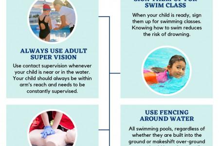 Pool Safety Tips For Children Infographic