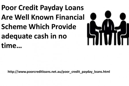Poor Credit Payday Loans- Feasible Alternative To Give Economic Desired Cash Infographic