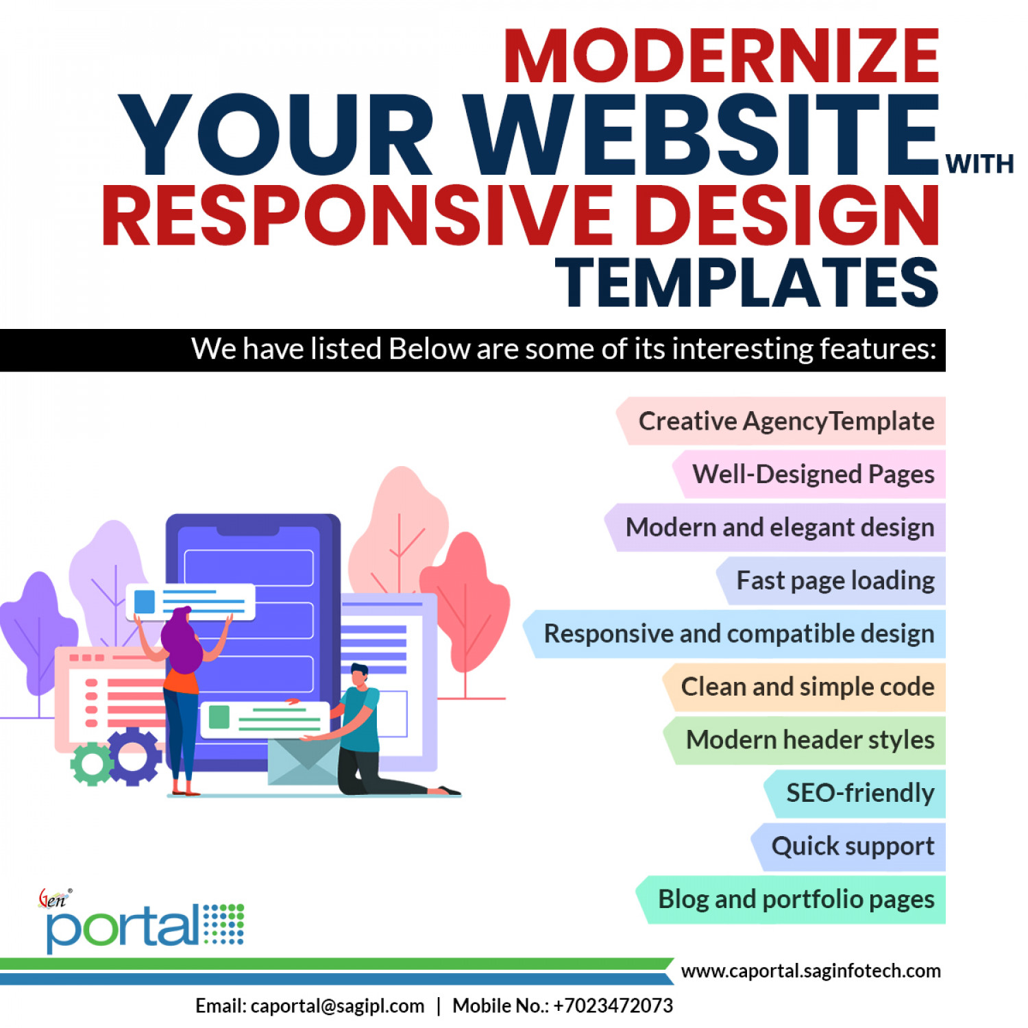 Popular Modern Website Templates For Professionals 2020 Infographic