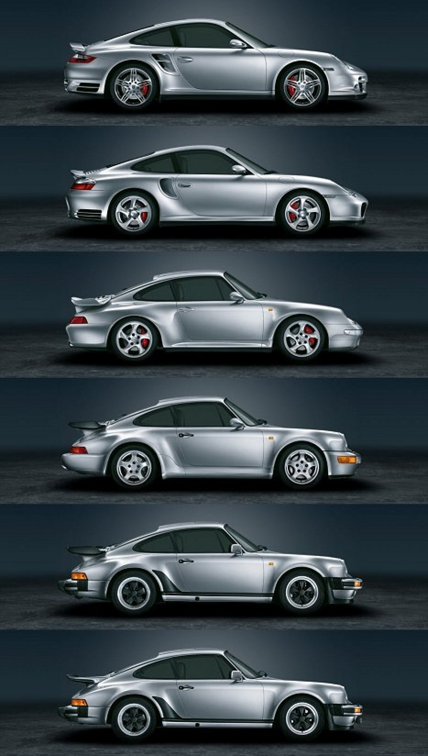 Porsche 911 by Decade Infographic