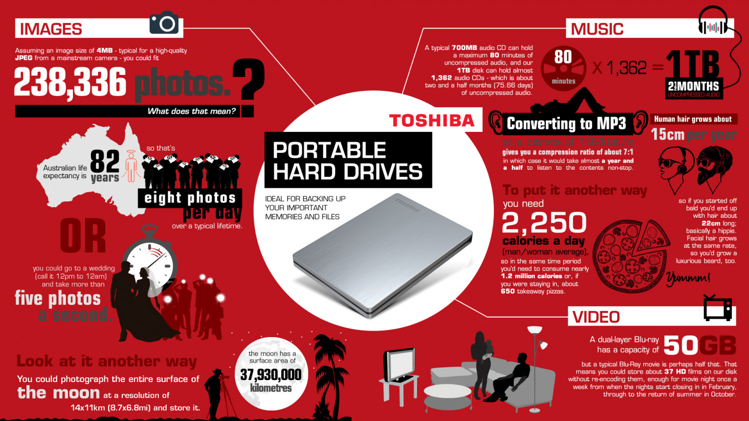 Portable hard drives Infographic