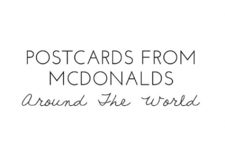 Postcards From McDonalds around the world  Infographic