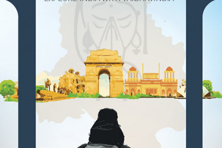 Poster on Delhi Tourism by ADMEC Infographic