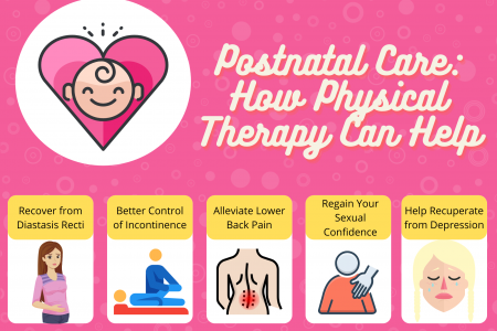 Postnatal Care: How Physical Therapy Can Help Infographic