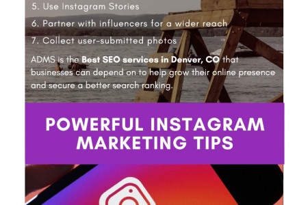 Powerful Instagram Marketing Tips Infographic