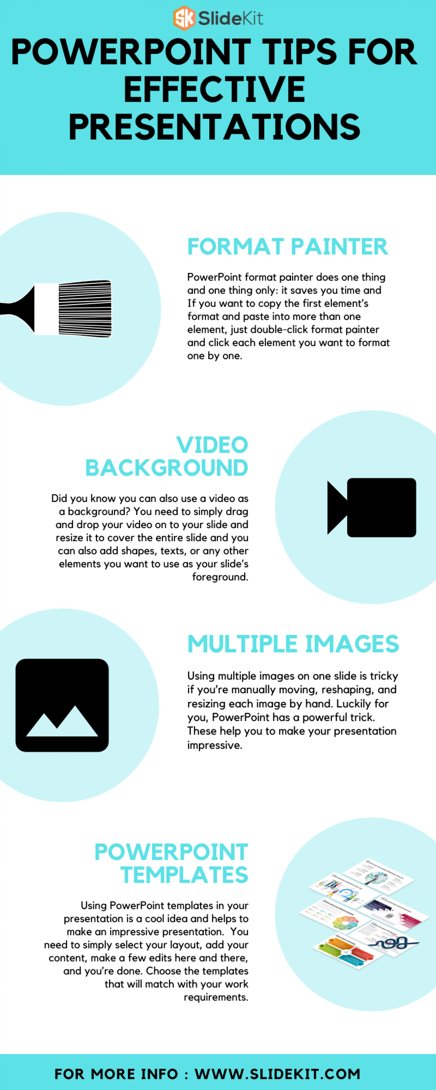 PowerPoint Tips For effective Presentations Infographic