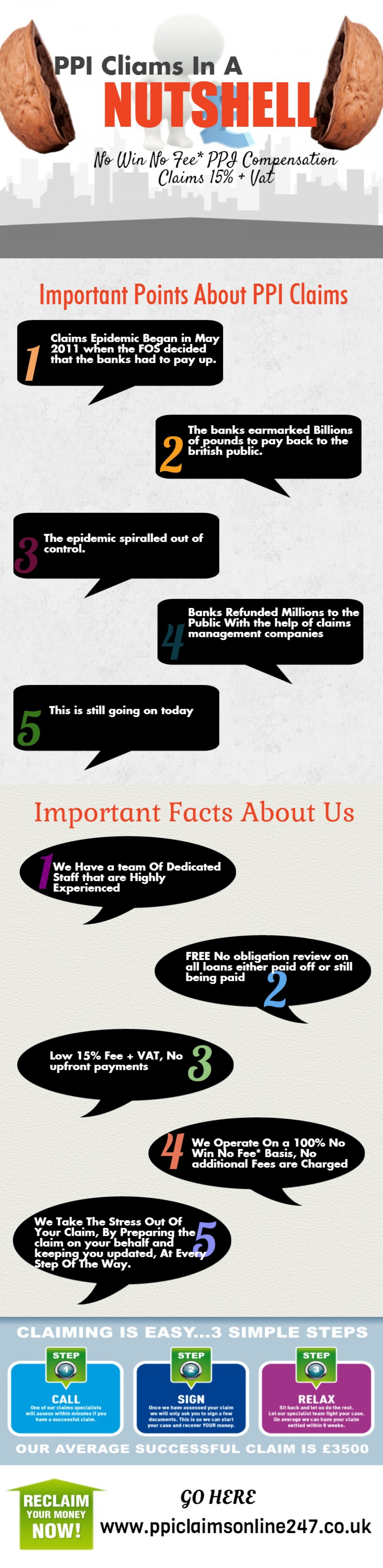 PPI Claims In a Nutshell Infographics Infographic