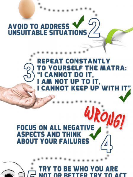 Practical Guide to reduce self-esteem Infographic