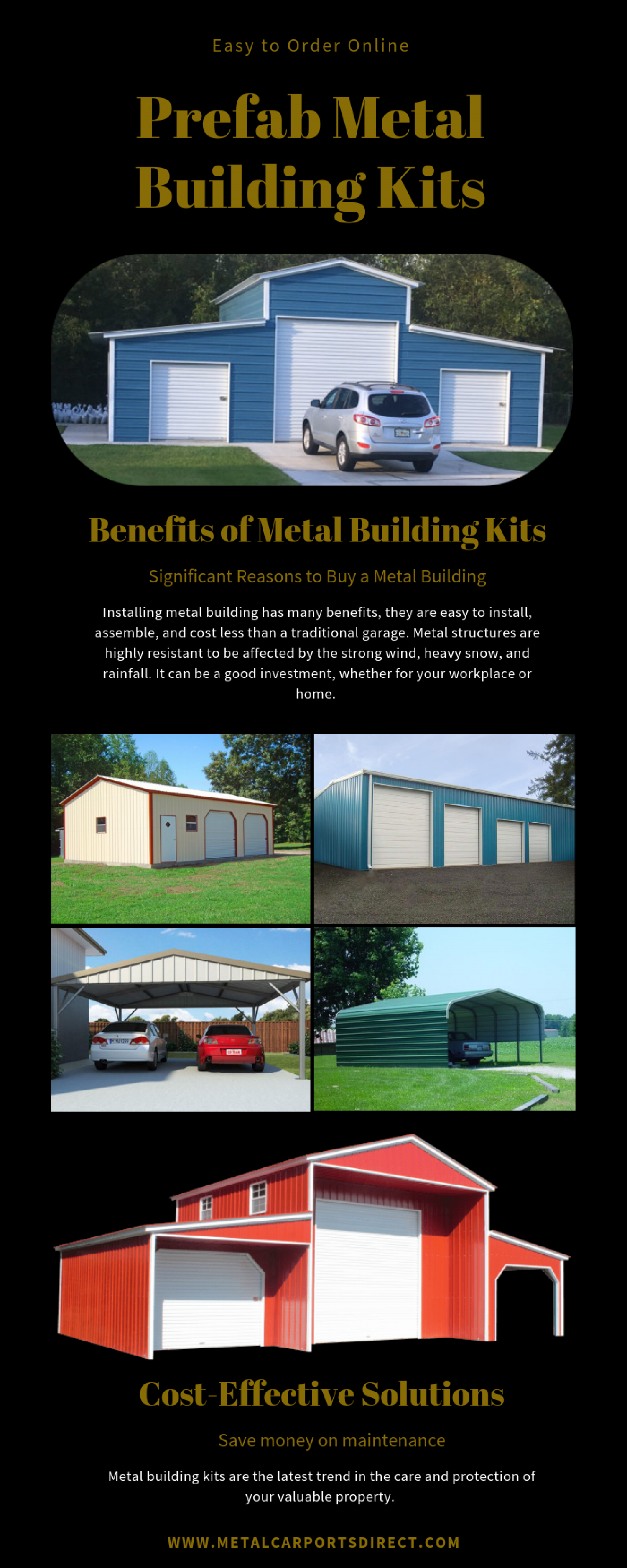 Prefab Metal Building Kits | Metal Carports Direct Infographic
