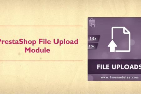 PrestaShop File Upload Module Infographic