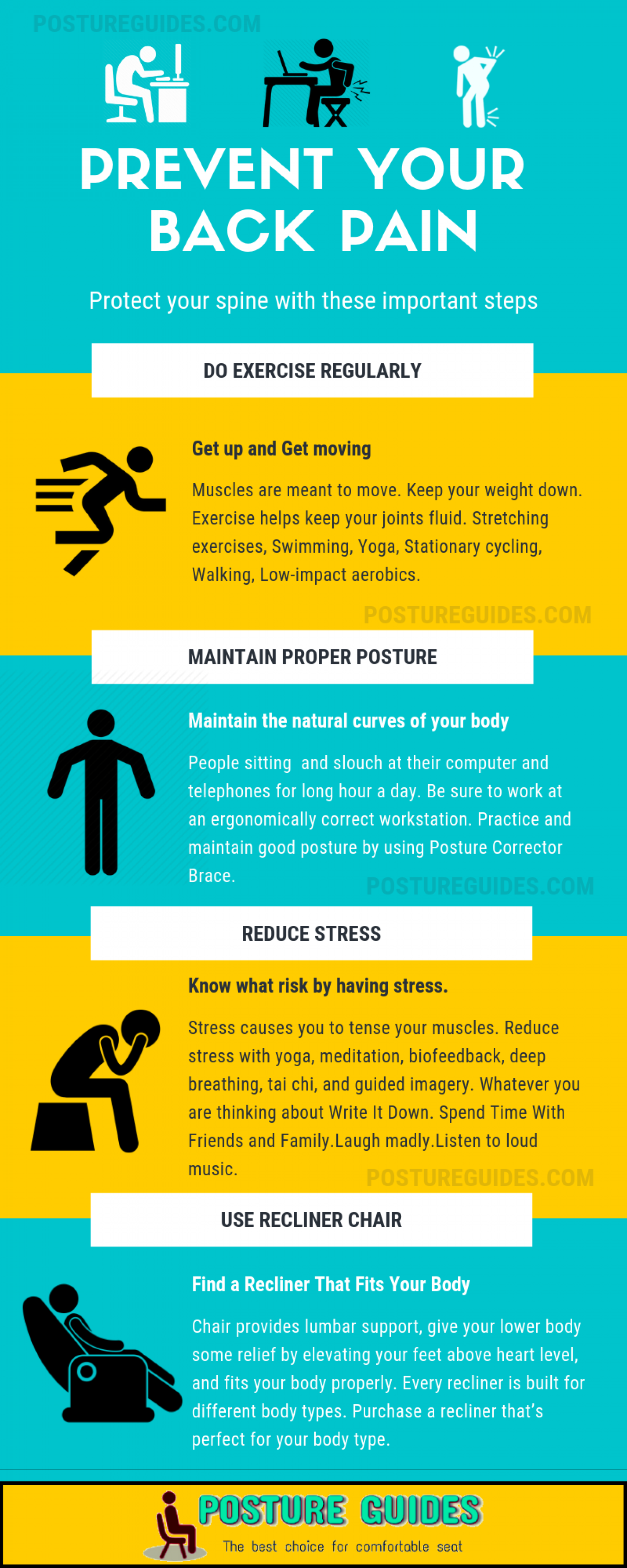 Prevent you back pain with these simple tips Infographic