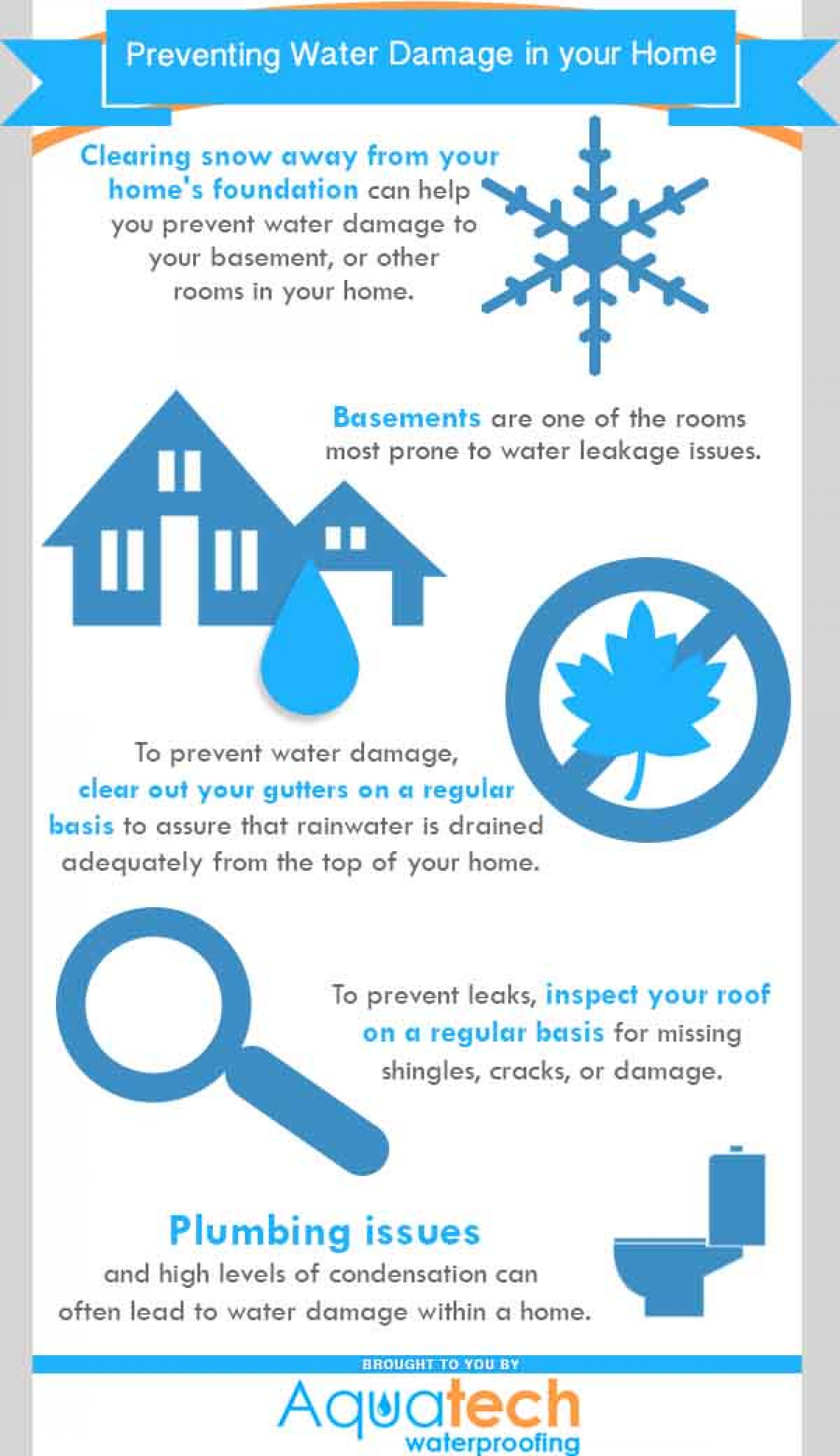 Preventing Water Damage in your Home Infographic