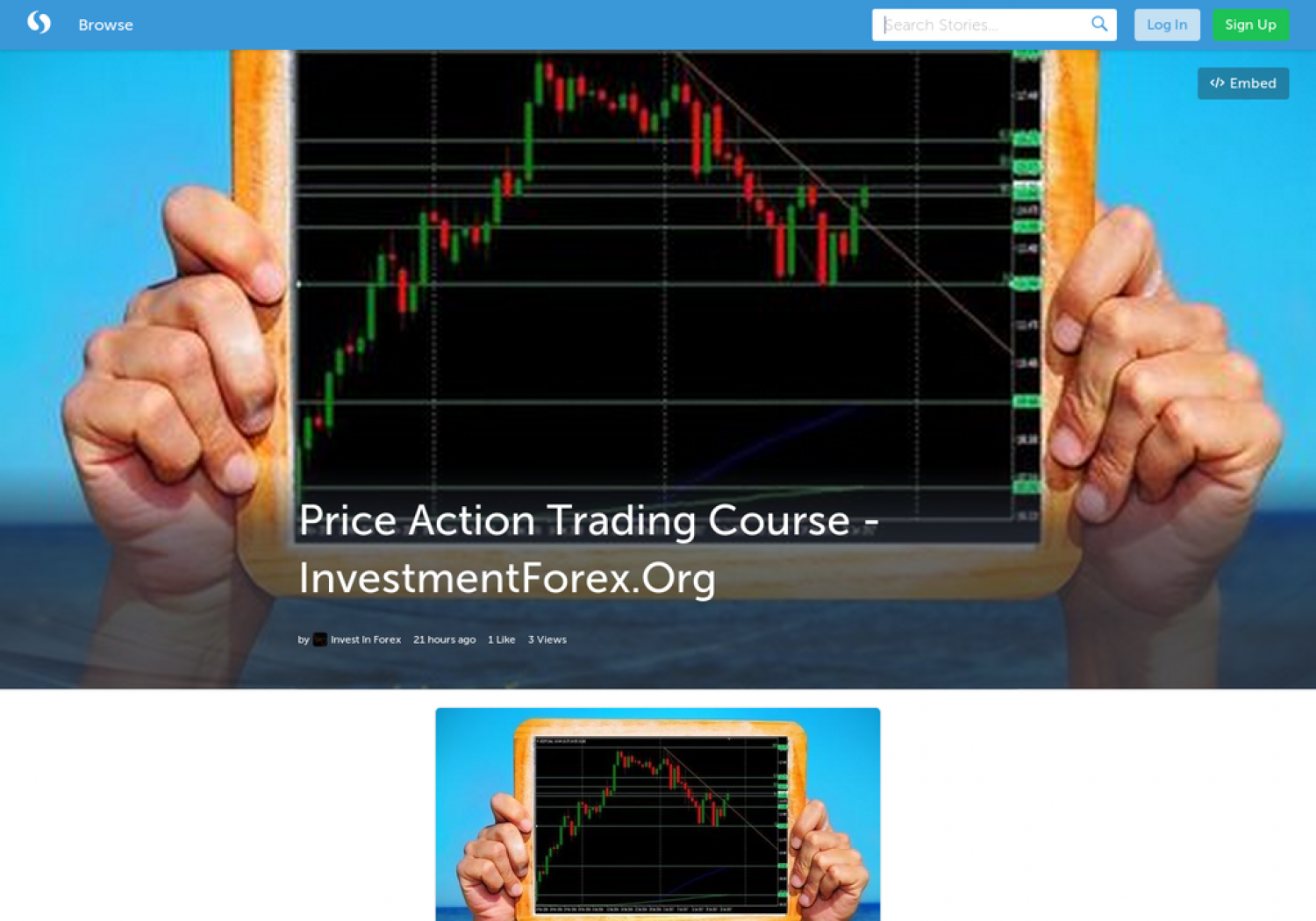 Price Action Trading Course - InvestmentForex.Org Infographic