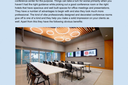 Primary Benefits Of A Great Conference Center   Infographic