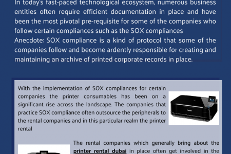 Printer Rental Dubai Has Been A One Stop Solution Who Require Corporate Records Infographic